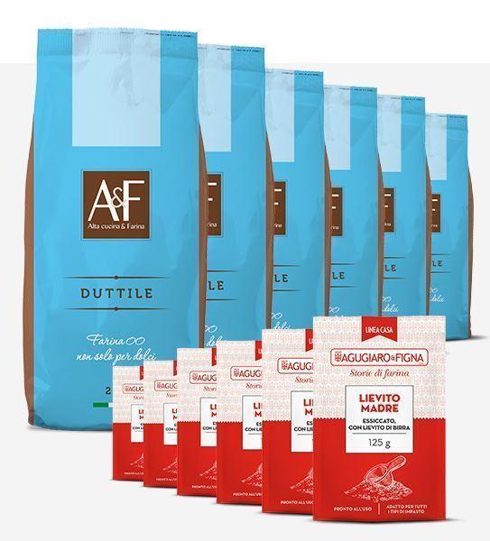 Immagine di Duttile Box 6 sacchetti di Farina + 6 sacchetti di Lievito