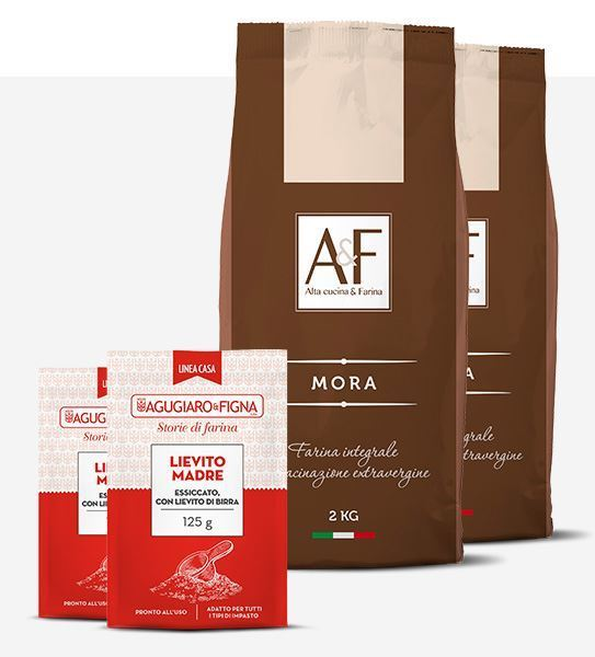 Immagine di Mora  2 sacchetti di Farina + 2 sacchetti di Lievito