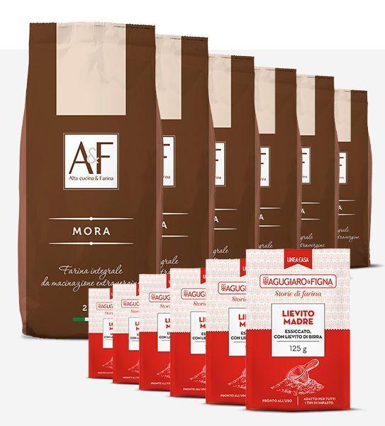 Immagine di Mora  Box 6 sacchetti di Farina + 6 sacchetti di Lievito