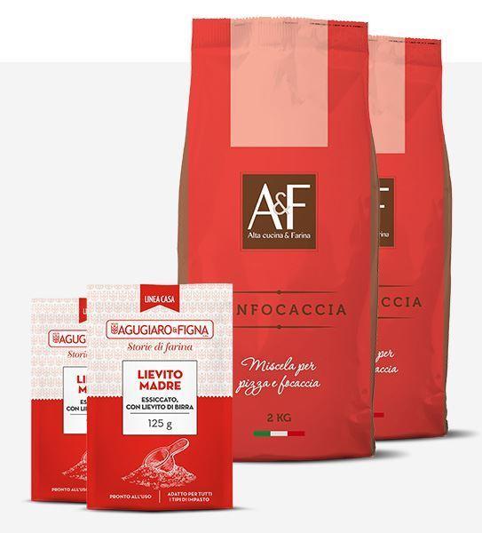 Immagine di Panfocaccia Box 2 sacchetti di Farina + 2 sacchetti di Lievito