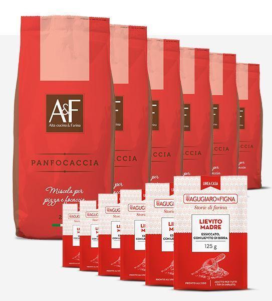 Immagine di Panfocaccia Box 6 sacchetti di Farina + 6 sacchetti di Lievito