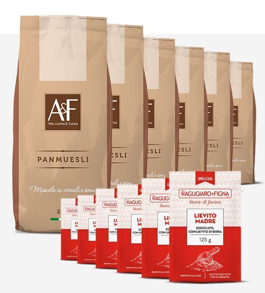 Immagine di Panmuesli Box 6 sacchetti di Farina + 6 sacchetti di Lievito