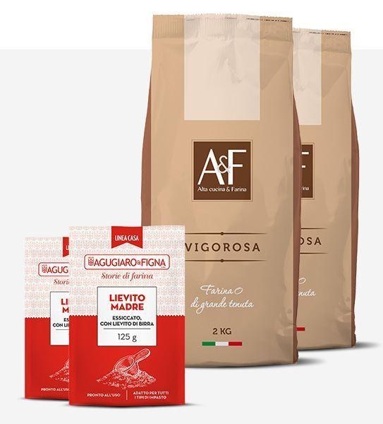 Immagine di Vigorosa Box 2 sacchetti di Farina + 2 sacchetti di Lievito Madre Essiccato